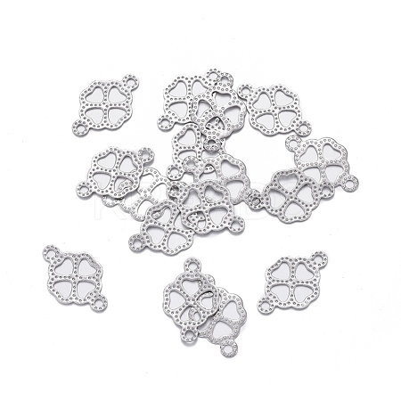 Wholesale 304 Stainless Steel Links, Clover, Stainless