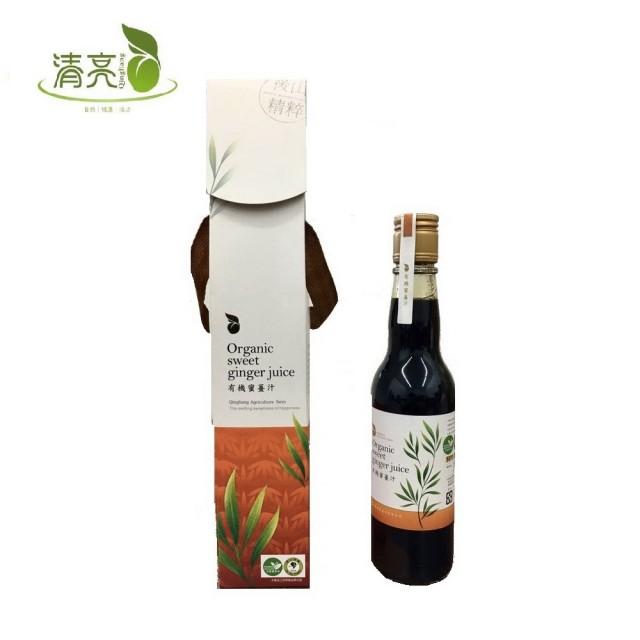 【清亮生態農場】有機蜜薑汁禮盒(300ml)