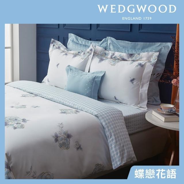 【WEDGWOOD】100%天絲床包兩用被套枕套四件組-多款任選(雙人)