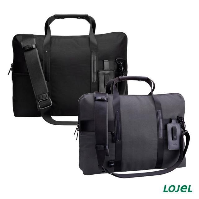 【LOJEL】URBO 拉鍊開口 皮革 筆電收納 經典公事包(旅行袋 電腦包 旅行包)