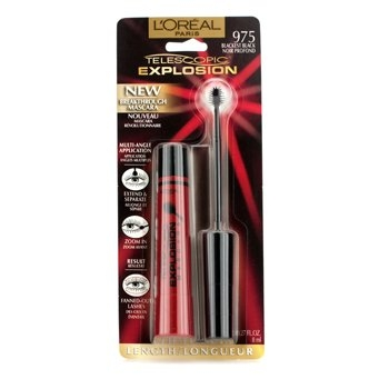 L'Oreal Telescopic Explosion Mascara - Blackest Black 8ml/0.27oz