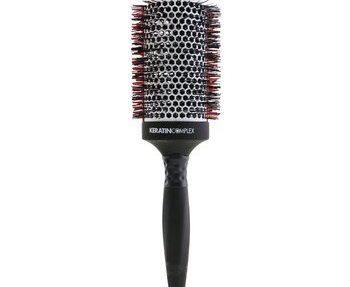 Keratin Complex Ceramic Technology Nano-Sliver Ions Heat Resistant Ceramic+Ionic Round Brush (3.5 Inch) 1pc