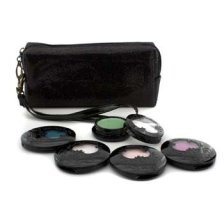 Anna Sui Eye Color Set: 4x Eye Color Accent + 1x Eye Gloss + Black Cosmetic Bag 5pcs+1bag