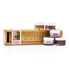 Eminence Red Rose Collection: Rose Cleanser + Rosehip Masque + Red Rose Treatment + Rosehip Moisturizer + Red Rose Whip Moisturizer 5pcs