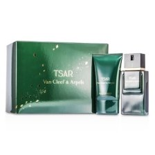 Van Cleef & Arpels Tsar Coffret: Eau De Toilette Spray 100ml/3.3oz + After Shave Balm 100ml/3.3oz + Pouch 2pcs+1pouch