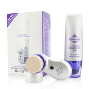 Ottie Purple Dew UV Reflector Skinny Sun BB SPF50 (with Smart Auto Vibrating Puff) 2pcs
