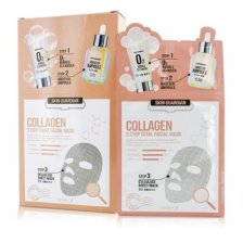Secret A Skin Guardian 3 Step Total Facial Mask Kit - Collagen 10x29ml/0.98oz