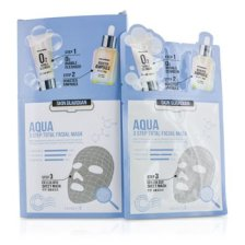 Secret A Skin Guardian 3 Step Total Facial Mask Kit - Aqua 10x29ml/0.98oz