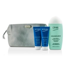 Biotherm Aquasource Set: Instant Hydration Toning Lotion 125ml + Hydrating Jelly 2x20ml + Bag 2pcs+1bag