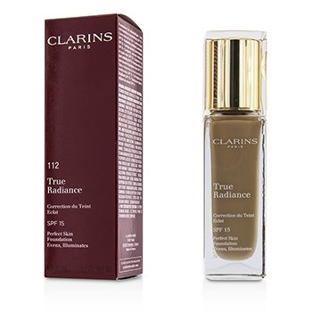 Clarins True Radiance Foundation SPF15 - #112 Amber 30ml/1.1oz