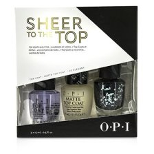 O.P.I Sheer To The Top (Top Coat & Glitter Trio) 3x15ml/0.5oz