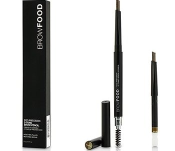 LashFood BrowFood Eco Precision 2 Tone Brow Pencil With Extra Refill - #Brunette 2x0.4g/0.014oz