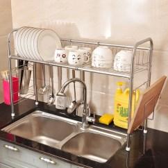 Kitchen Tool Holder Stoves 置物架水槽诗诺雅用品沥水收纳不锈钢厨房用具架碗碟架 置物架 花袋购
