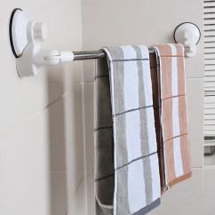 Kitchen Towels Tables Austin 卫生间浴巾旋转吸盘不锈钢置物架厨房毛巾 置物架 花袋购