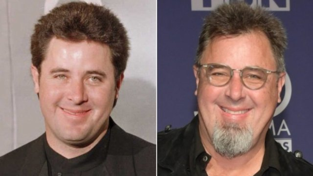 country star Vince Gill then and now