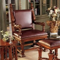 King Tutankhamen's Egyptian Throne Arm Chair