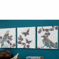 Graham & Brown Bird 3 Piece Graphic Art on Canvas Set ...