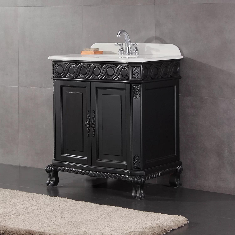 Ove Decors Trent 30 Bathroom Vanity Ensemble Set  Antique Black