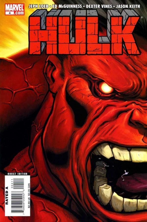 Red Hulk Comic Cover