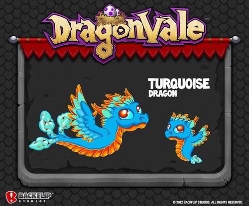 Turquoise Dragon DragonVale Wiki
