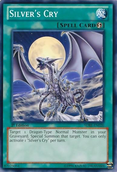 Yu Gi Oh Dragon Card Silver Sides