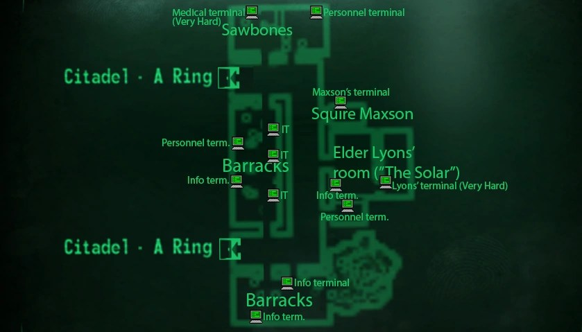 New Vegas World Map.Citadel Fallout New Vegas World Map