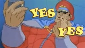 Street Fighter cartoon M Bison Yes Yes
