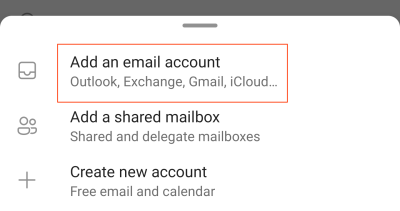 Add an email account