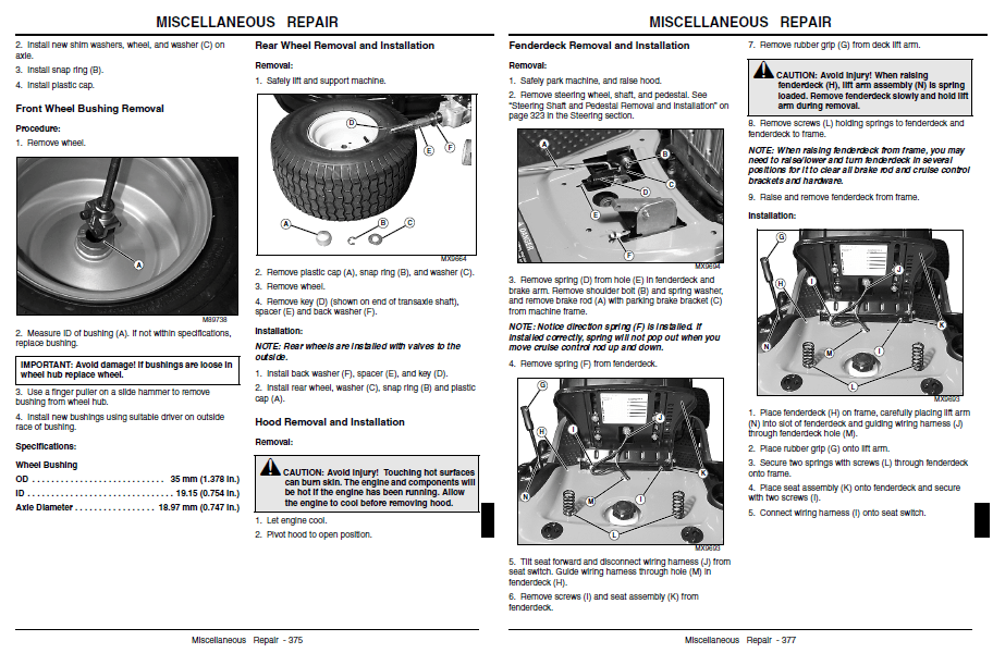 JOHN DEERE REPAIR MANUAL L100 L110 L120 L130
