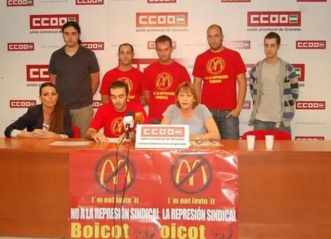 CCOO y trabajadores de Mc Donalds se movilizaran