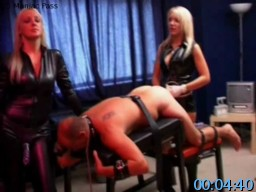 FemdomStrapon.com SiteRip - Bound Slave Gets Humiliated By Ass Fingering, Strapon Fucking And Forced Gay Sex. He Is Also Being Forced To Suck Other Guys Dick.
