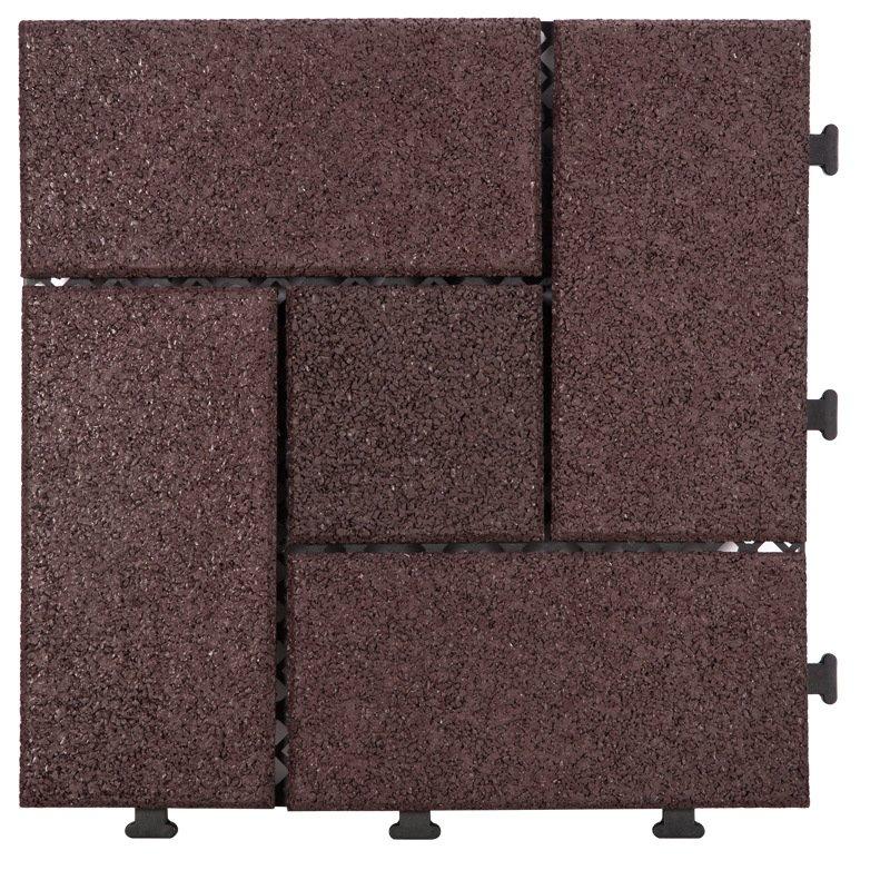 interlocking patio rubber floor tiles