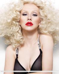 Christina Aguilera cleavagy in Bionic Photoshoot Outtakes - Hot Celebs Home
