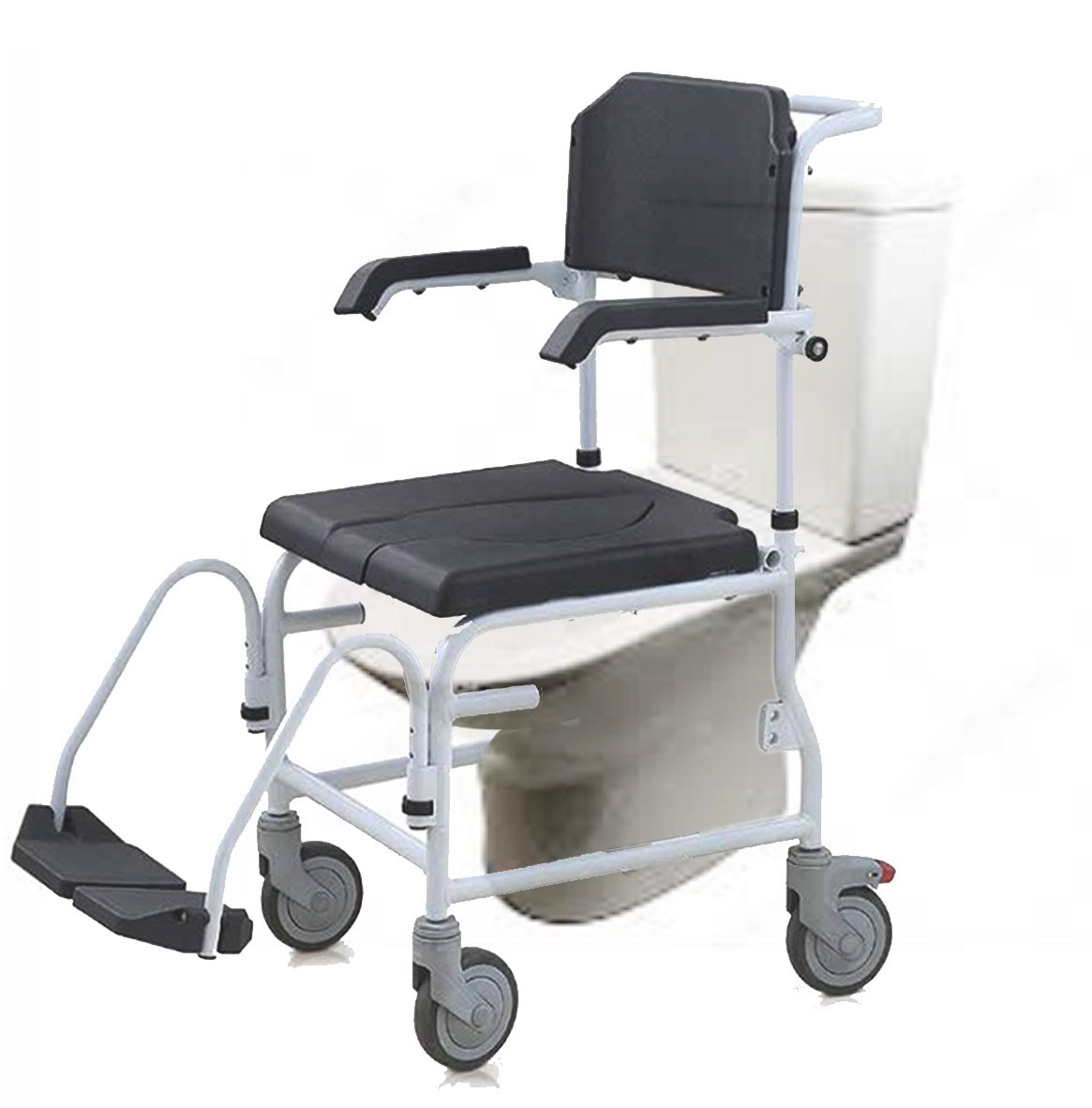 Commode And Shower Chair With Footrests Hct3002  Commode