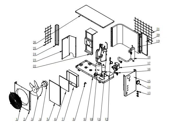 top selling water to air heat pump internal rotor motor