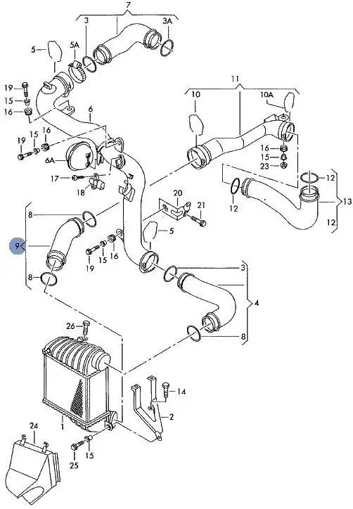 VW GOLF LEON 1.9TDI ARL 150BHP TURBO INTERCOOLER PRESSURE