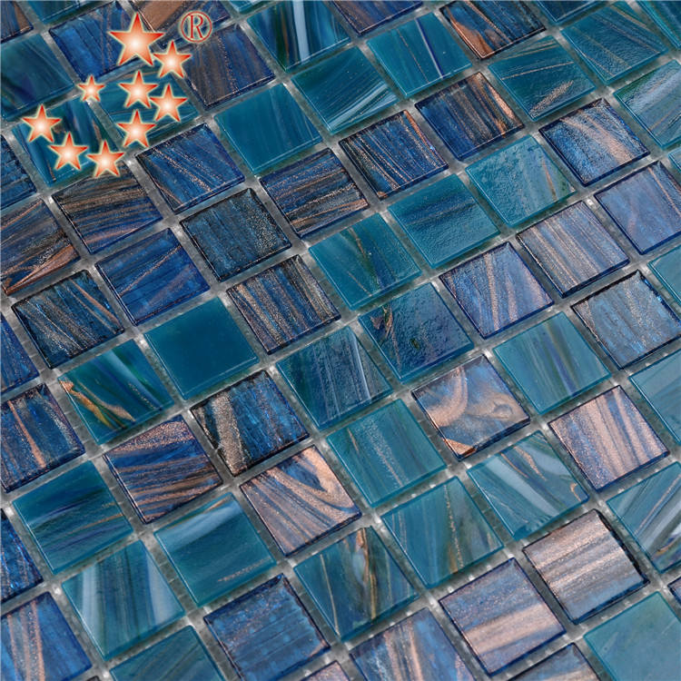 pool 4mm thickness glass mosaic tile