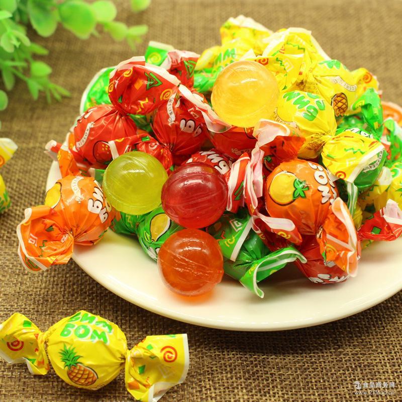 水果硬糖 乒乓球糖 批發 喜糖 果醬夾心 俄羅斯進口食品糖果批發價格 糖果-食品商務網