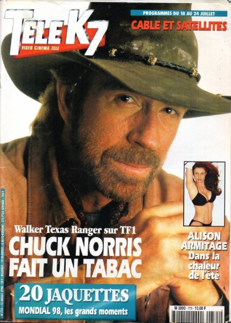 Chuck Norris Films Et Programmes Tv : chuck, norris, films, programmes, Chuck, Norris,, Magazine, Cover, Photo, France