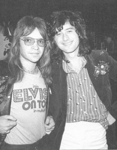 Rodney Bingenheimer and Jimmy Page