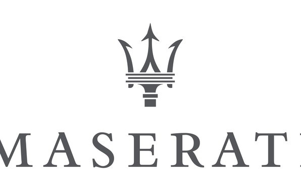 Wallpaper white, grey, logo, logo, white, maserati