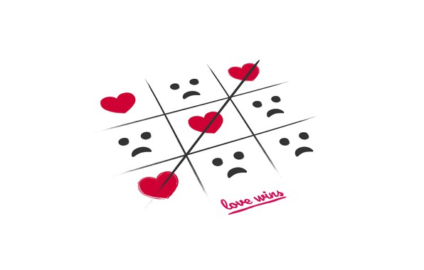 Wallpaper the game, heart, TIC-TAC-toe, wins love images