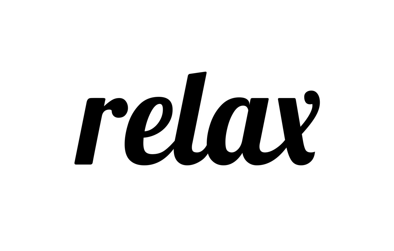 Wallpaper letters, relax, the word images for desktop