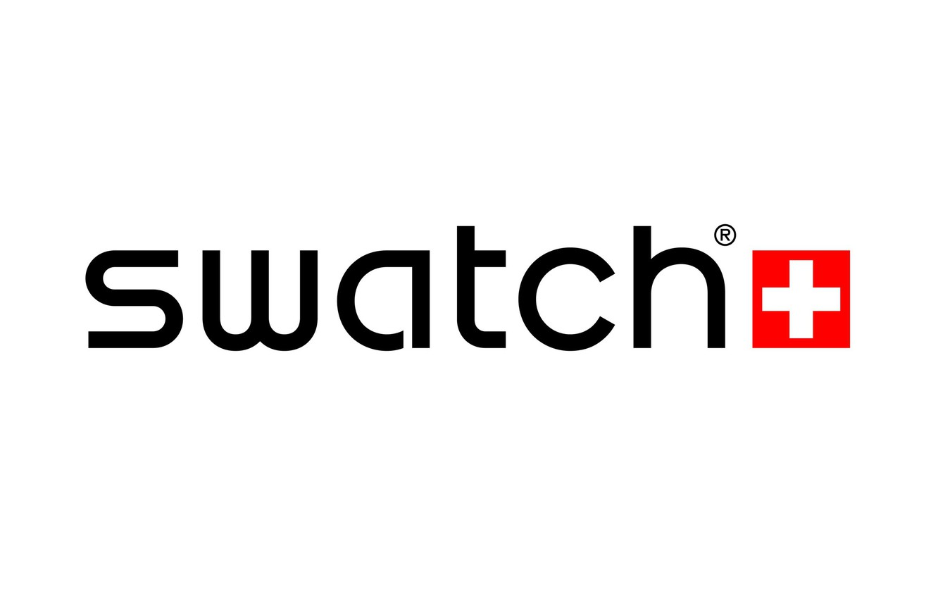 Wallpaper red, white, swatch, white, Swatch, logo, fon