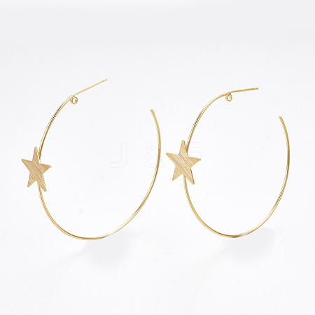 Wholesale Brass Stud Earring Findings, with 925 Sterling