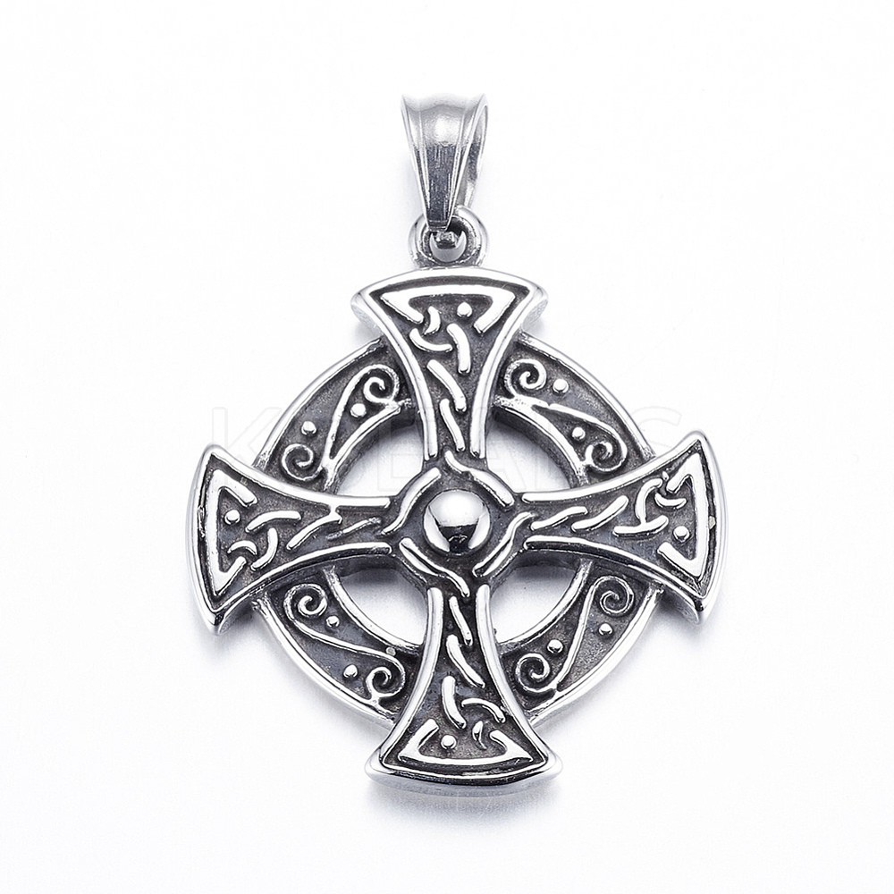 Wholesale 304 Stainless Steel Pendants, Flat Round with