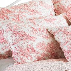 Sofa Table 84 Inches Couches French Vintage Toile Luxury 100% Cotton Quilted Bed Throw ...