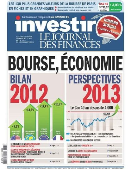 Investir N°2035 du 05 au 11 Janvier 2013
