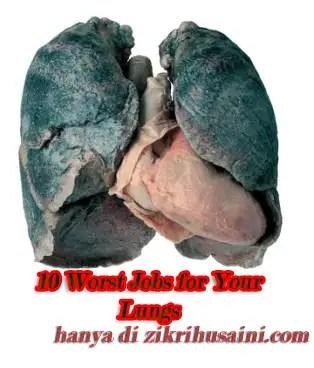 lung, lung black, lung cancer, 10 worst jobs for your lungs, kerja yang tak elok buat paru-paru