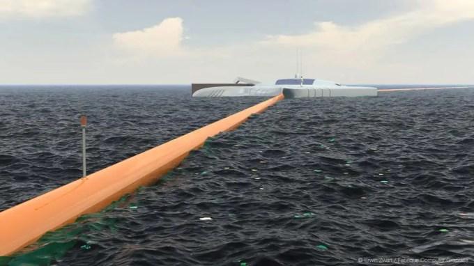33858230 - Un estudiante de 19 años inventa un sistema para limpiar los océanos de plástico